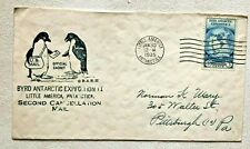 Commemorative Cachet mailed from Antarctica, 1929 Byrd Expedition II
