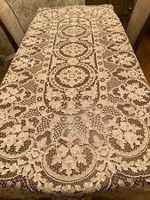 Vintage Bobbin Hand Made Italian Point-de-Venice Lace Tablecloth 12 napkins