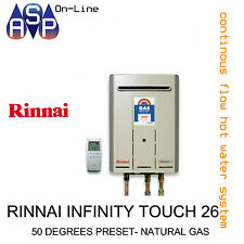 RINNAI INFINITY TOUCH 26 - 50 DEGREES PRESET - NATURAL GAS