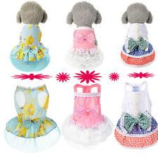 Dog Cat Bow Tutu Dress Lace Skirt Pet Puppy Dog Dresses Costume Apparel Clothe P
