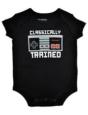 New - Nintendo Baby 'Classically Trained' Black Bodysuit - 18 mos