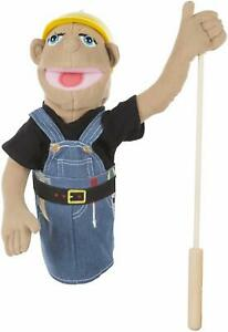 Melissa & Doug Construction Worker Puppet with Detachable Wooden Rod