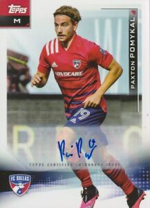 2021 Topps MLS Soccer Paxton Pomykal Autograph #33  - FC Dallas 🔥