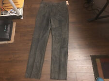 MENS DISTRESSED LOOK LEATHER PANTS SIZE 38 50 IN. LONG MOTORCYCLE BLACK M JULIAN