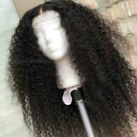 Afro Kinky Curly Wave Lace Front Wig 100% Indian Remy Human Hair Wig Hairlines K