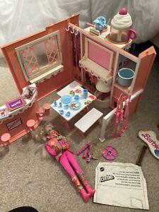 Vintage 1991 Barbie Chocolate Shop/ski Lodge Playset