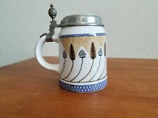 ANTIQUE METTLACH VILLEROY & BOCH BEER STEIN WITH WHEAT SPIKE #1526 Ca. 1905 RARE
