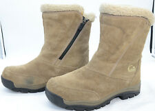 SOREL Water Fall Womens Sz 9 Thinsulate Insulation Leather Waterproof Zip Boots