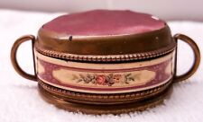 Antique Enamel and Brass Pin Cushion
