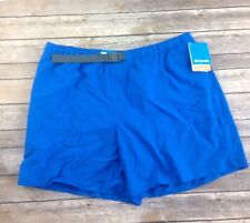 Columbia Relaxed Omni Shade UPF 50 Swim Trunks Bright Blue Fully Lined E01