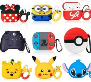 3D Cute Cartoon Airpods Silicone Case for Apple Airpod 1 2 & Pro Accessories