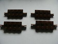 Lego 4 essieux plats marrons set 5986 7409 5975  / 4 brown plate modified