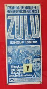 ZULU ORIGINAL 1964 CINEMA DAYBILL FILM MOVIE POSTER Stanley Baker RARE 60's