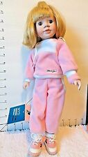 "Doll-15"" Marian Yu Designs, In Pink Sweats, Hand Made, Hand Pntd, Lmt Ed.,1989"