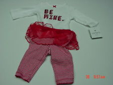NWT Infant Girl 2 Piece Set Carter's Be Mine Valentine Creeper Legging Tutu