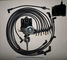CHRYSLER 440 73-78 BLACK Small Female Cap HEI Distributor,coil, Spark Plug Wires
