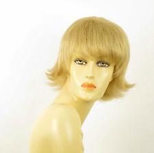 perruque femme 100% cheveux naturel courte blonde ref MELINDA 22