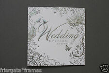Wedding Evening Reception Invitations Pack of 18 Silver Embossed Love Birds