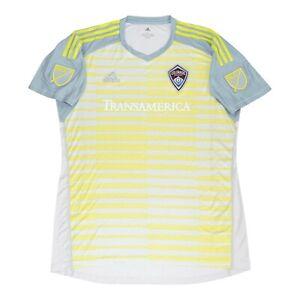 Colorado Rapids MLS Adidas Men's Grey AdiPro Short Sleeve Goalkeeper Jersey