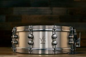 VK DRUMS (VAN KLEEF) 14 X 4.5 AGELESS COLLECTION SOLID 925 STERLING SILVER SNARE