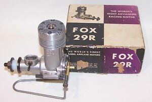 """New In Box 1957 Fox .29R """"Bath Tub"""" Control Line Racing Model Airplane Engine"""