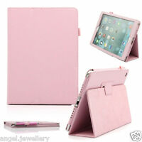 New Multi-Function Leather Wallet Stand Case for Apple Ipad Air Free SP and Pen
