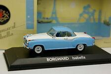 Norev 1/43 - Borgward Isabella Blanche et Bleue