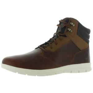 Timberland Mens Graydon Brown Leather Casual Boots Shoes 12 Medium (D) BHFO 2052