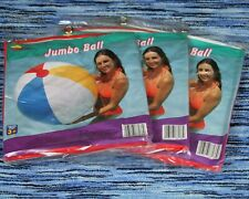 """36"""" SUNCO Inflatable CLASSIC 4 Color Beach Ball, Vintage 1998 Pool Toy - 3 PACK"""