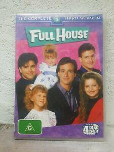 FULL HOUSE SEASON 3 (DVD, 4 DISC) Over 9 Hours ! R4 1980s tv show