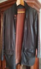 MARIO VOLPONI Men's Leather & Cashmere Coat Jacket made in Italy US SIZE 38