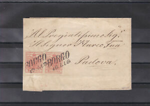 Geprüfter Brief mit Paar ANK 3 Type IIIa von Borgo nach Padova