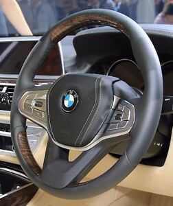 BMW G11 G12 7 Series 2016+ Fineline Wood & Leather Steering Wheel Non-Heated NEW