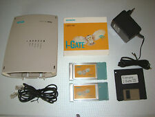 Siemens I-Gate 11m ISDN * 2x WLAN PCMCIA CARDS * Org. software CD + disk WIN XP