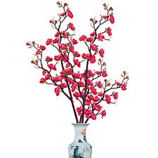 2pcs Artificial Plum Blossom Stems Fake Winter Plum Tree Branch Home OfficeDecor