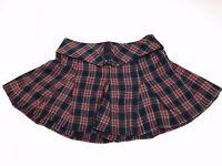 Royal Bones Women's Tartan Plaid Goth Pleated Mini Skirt Size S