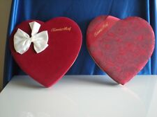 Valentine's Day heart shaped candy boxes, Fannie May