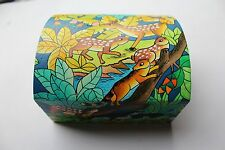 Beautiful Hand Painted & Made Wooden Trinket Box - Animal Scenery - Bolivia