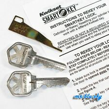 Kwikset Weiser Smart Key Rekey Kit Rekey Tool 2 Keys With Instructions