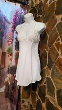 Beautiful Sheer Embroidered Night Gown Teddy Sz S pre owned