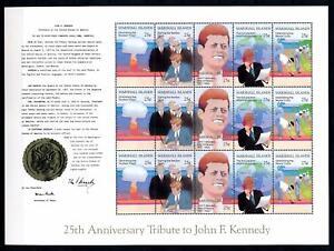 [68474] Marshall Islands 1988 President John F. Kennedy Full Sheet MNH