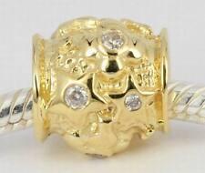 2.8 GRAMS Genuine SOLID 9CT 9K GOLD Twinkling Cz STARS BEAD For Charm Bracelet