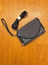 Keds Convertible Denim Blue & White Polka Dots Wallet Wristlet.