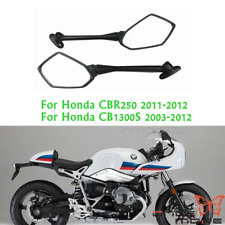 Rear Long Stem View Side Side Mirrors For Honda CBR250 2011-2012 CB1300S Scooter