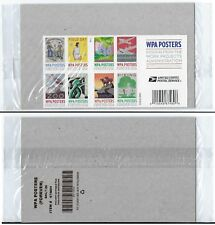 WPA Posters book of 20 Forever USPS Postage Stamps. New, Sealed in USPS Package.
