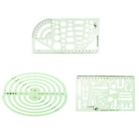 Plastic Ruler Drawing Stencil Template Drawing Templates Student Supplies