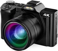 4K Digital Camera Vlogging Camera 48MP AiTechny Video Camera Camcorder with WiFi
