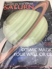 "Glow in The Dark Saturn Cosmic 8"" Magic for Your Wall or Ceiling Nasa"