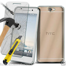Ultra Fino Gel Transparente Funda ✔ Protector Pantalla Cristal ✔ HTC Desire 630