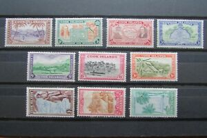 XL5351: Cook Islands – Complete Mint Stamp Set to 3/- (1949): SG150 – 159